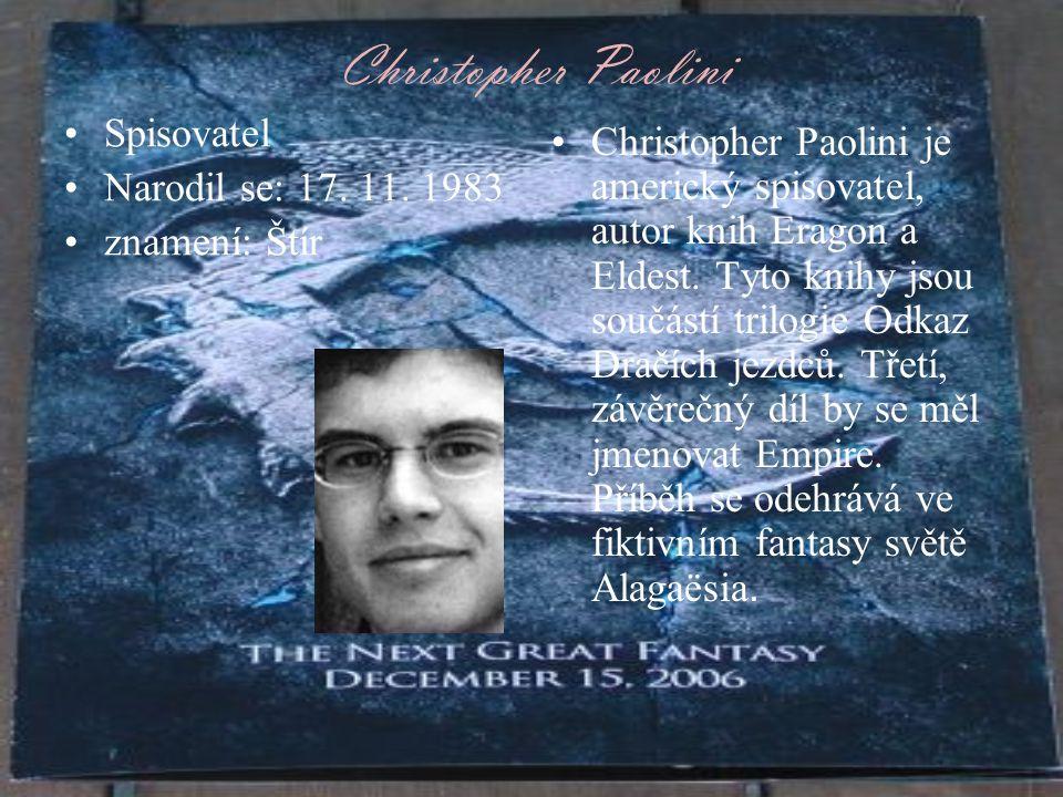Christopher Paolini Spisovatel