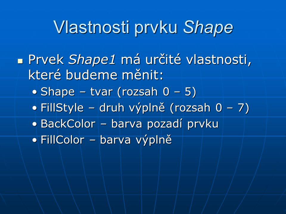 Vlastnosti prvku Shape
