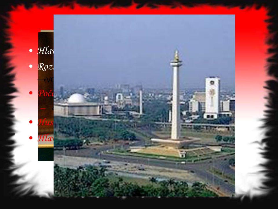 Základní informace Hlavní město: Jakarta