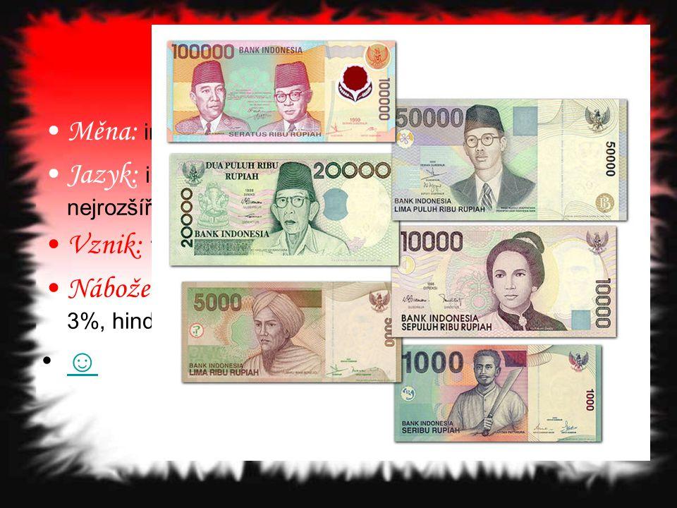 Měna: indonéská rupie (IDR)