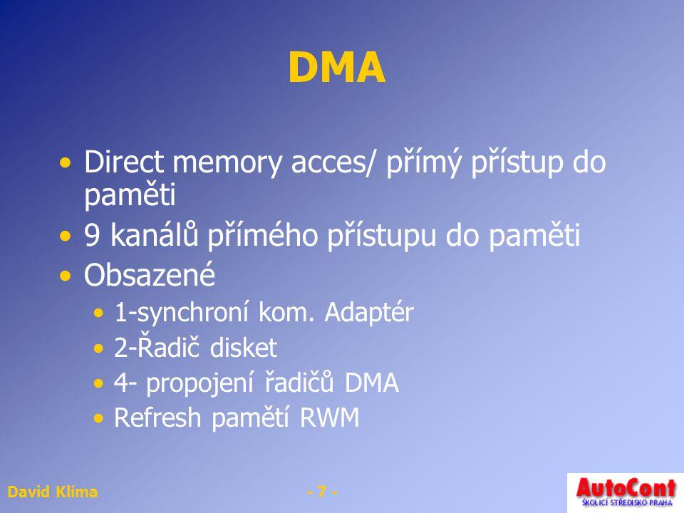 DMA Direct memory acces/ přímý přístup do paměti