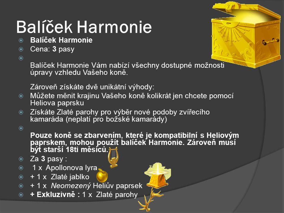 Balíček Harmonie Balíček Harmonie Cena: 3 pasy