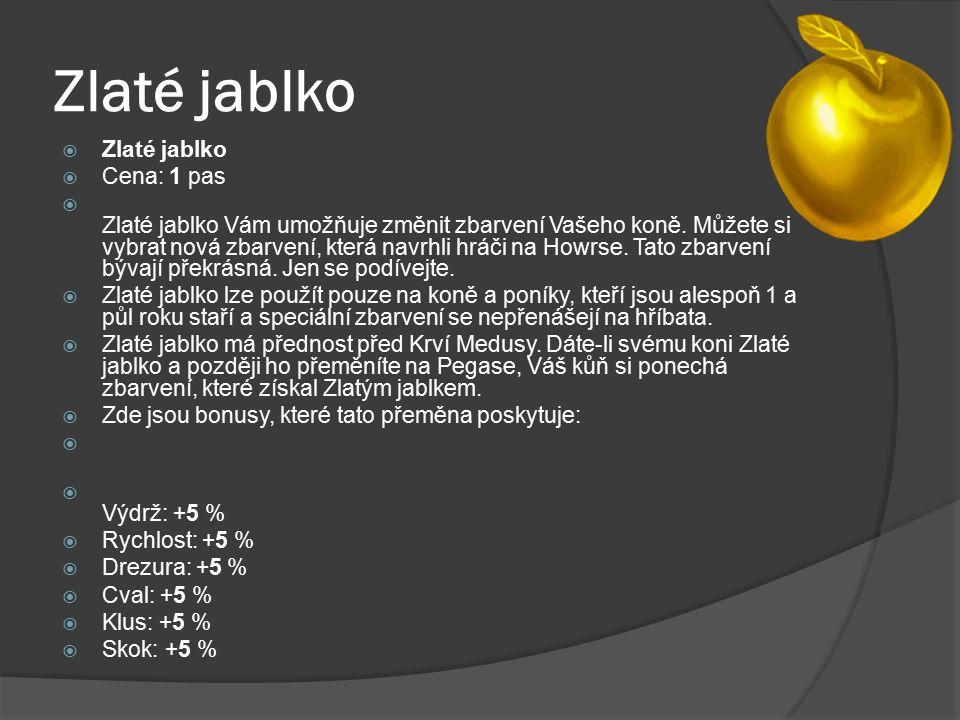 Zlaté jablko Zlaté jablko Cena: 1 pas