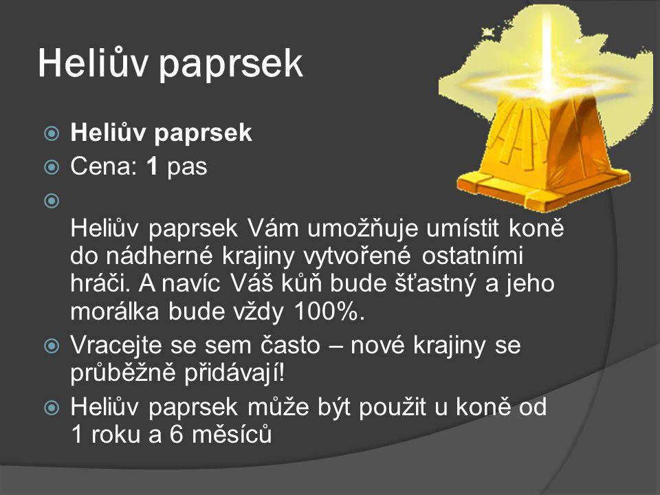 Heliův paprsek Heliův paprsek Cena: 1 pas