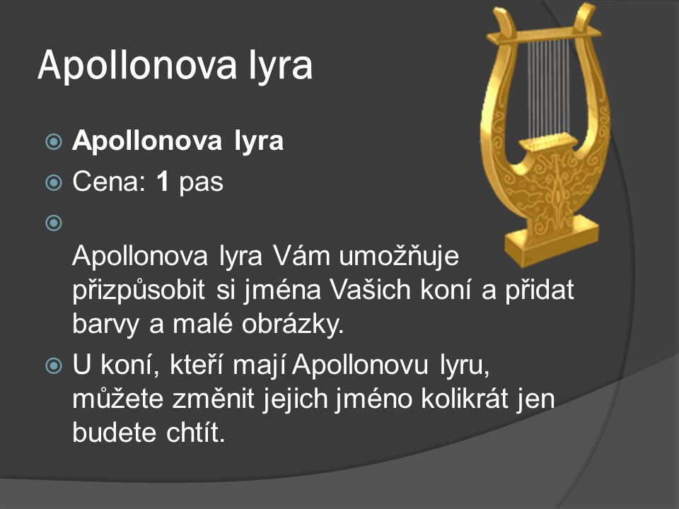 Apollonova lyra Apollonova lyra Cena: 1 pas