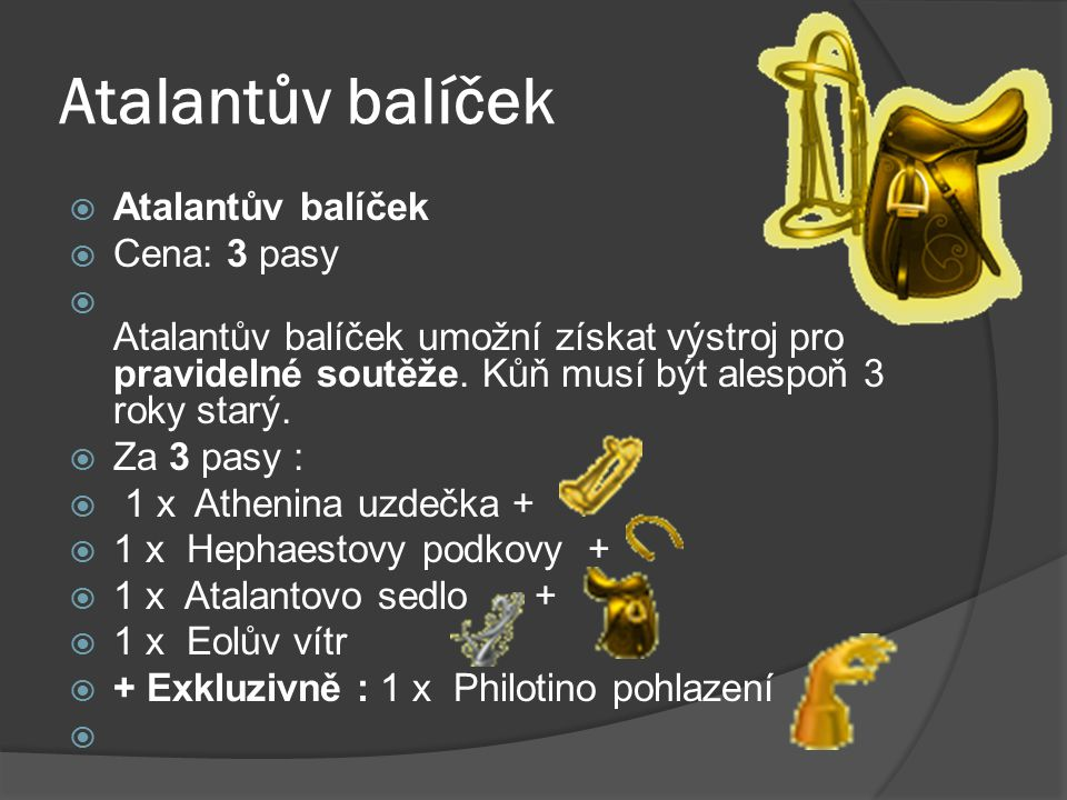 Atalantův balíček Atalantův balíček Cena: 3 pasy
