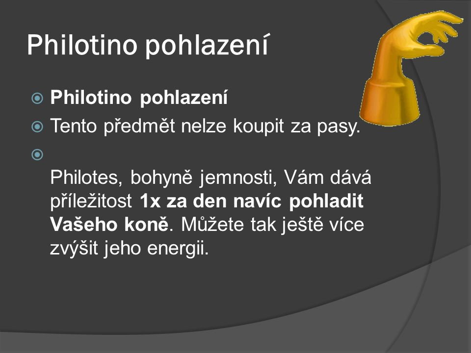 Philotino pohlazení Philotino pohlazení