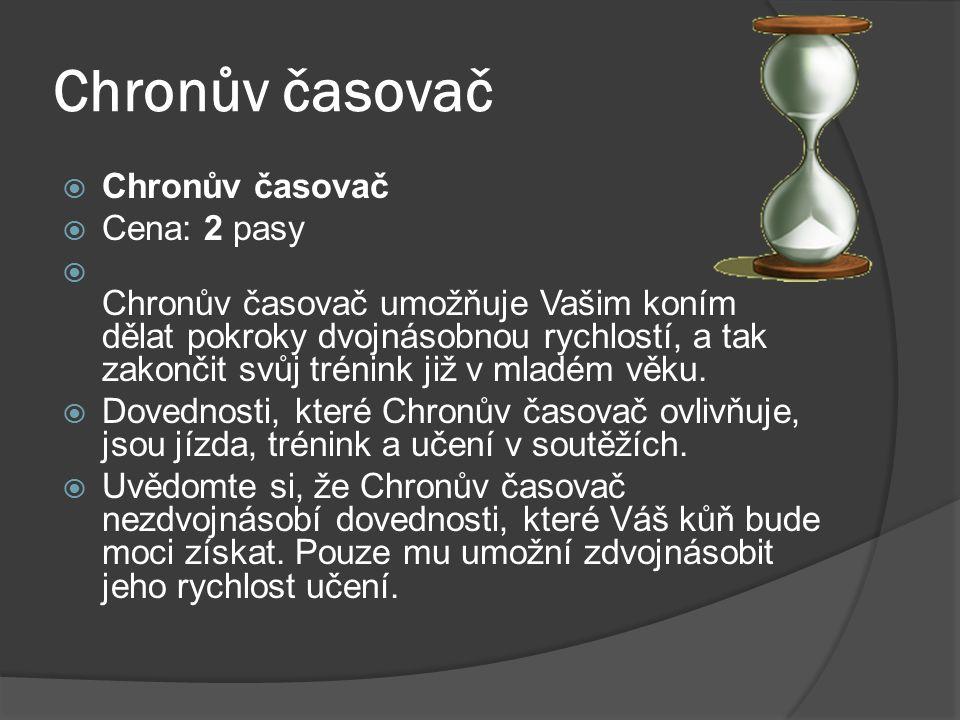 Chronův časovač Chronův časovač Cena: 2 pasy