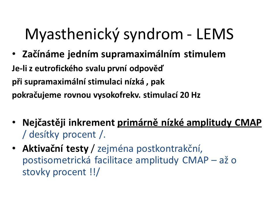 Myasthenický syndrom - LEMS