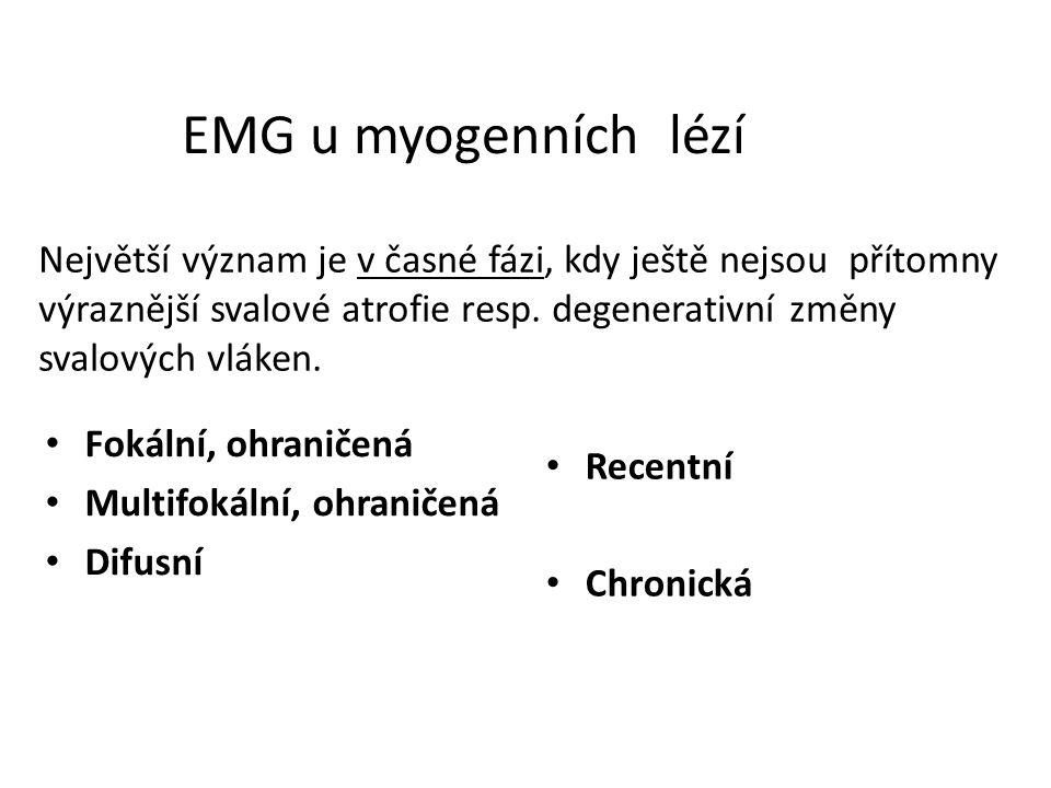 EMG u myogenních lézí