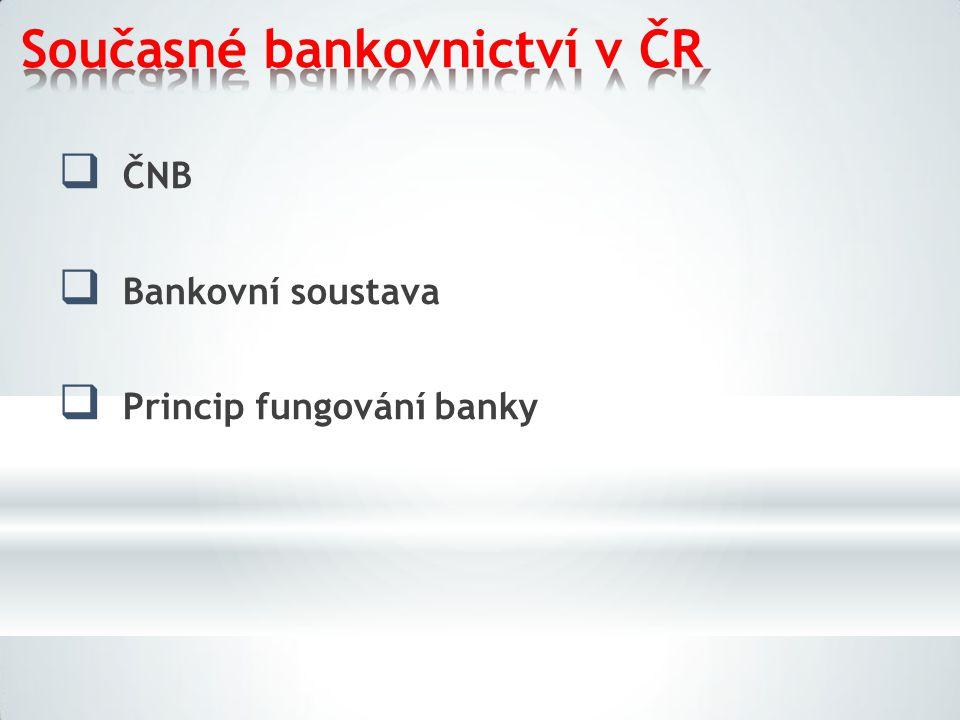 Současné bankovnictví v ČR