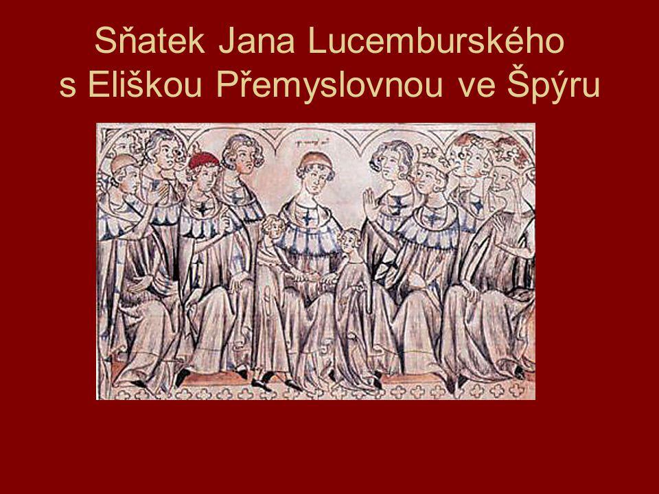 Sňatek Jana Lucemburského s Eliškou Přemyslovnou ve Špýru