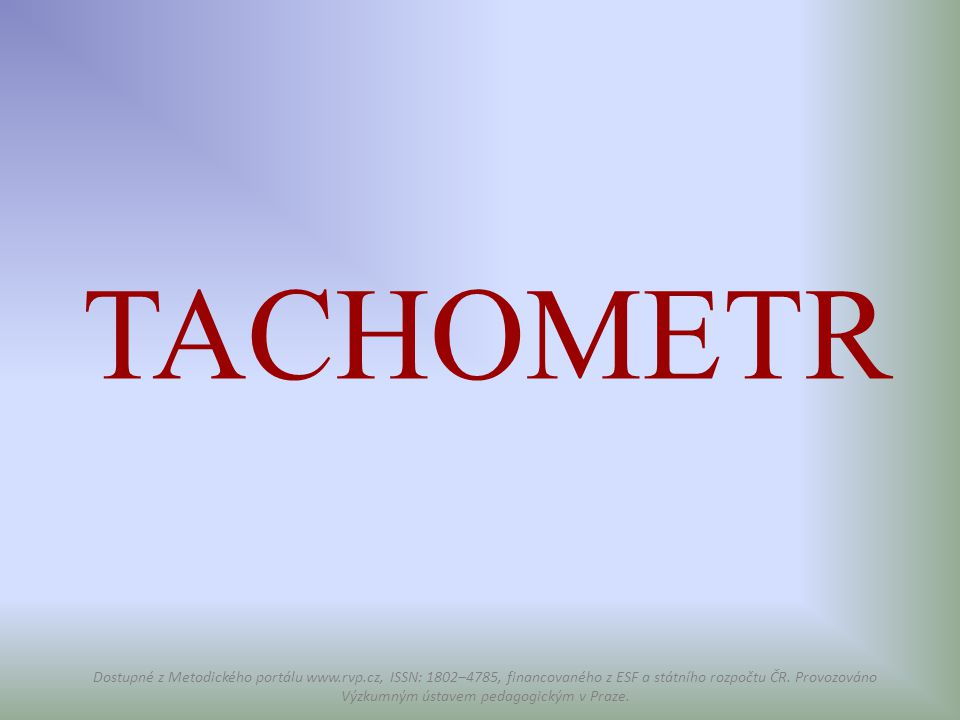 TACHOMETR