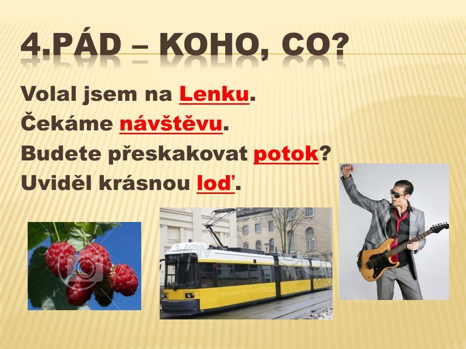 4.pád – KOHO, CO Volal jsem na Lenku. Čekáme návštěvu.