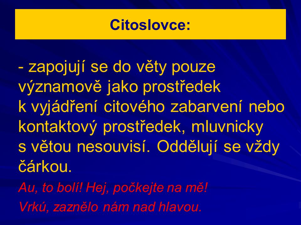 Citoslovce: