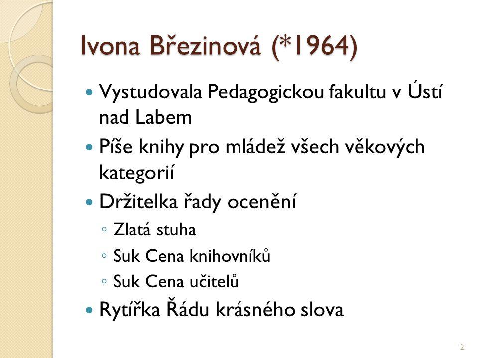 Ivona Březinová (*1964) Vystudovala Pedagogickou fakultu v Ústí nad Labem. Píše knihy pro mládež všech věkových kategorií.