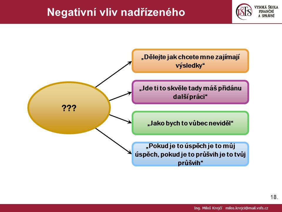 Negativní vliv nadřízeného