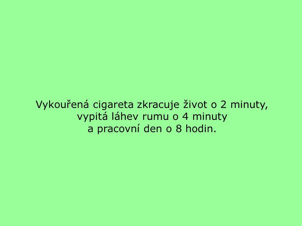 Vykouřená cigareta zkracuje život o 2 minuty,