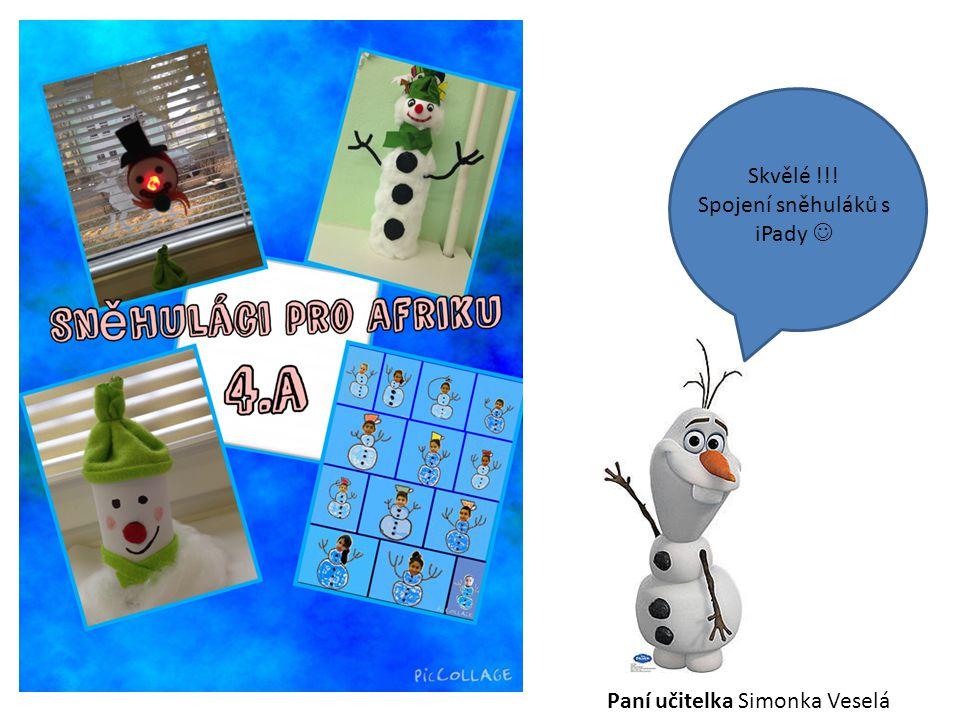 Spojení sněhuláků s iPady 