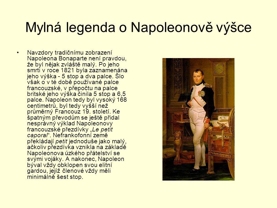 Mylná legenda o Napoleonově výšce