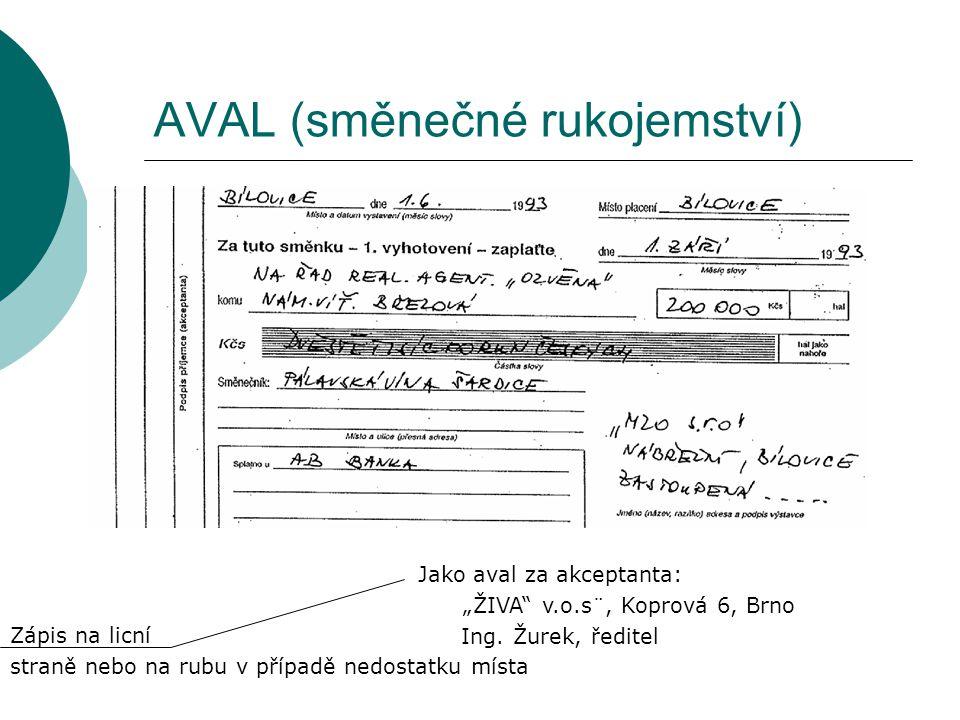 AVAL (směnečné rukojemství)