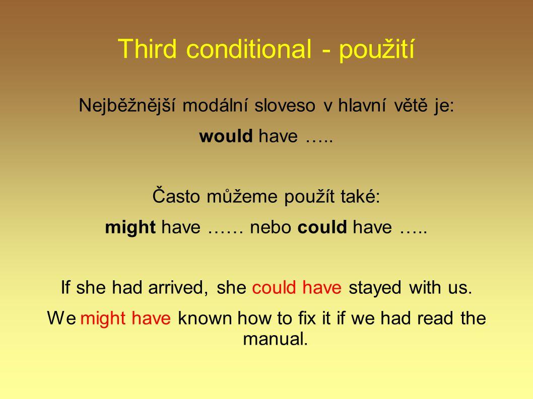 Third conditional - použití