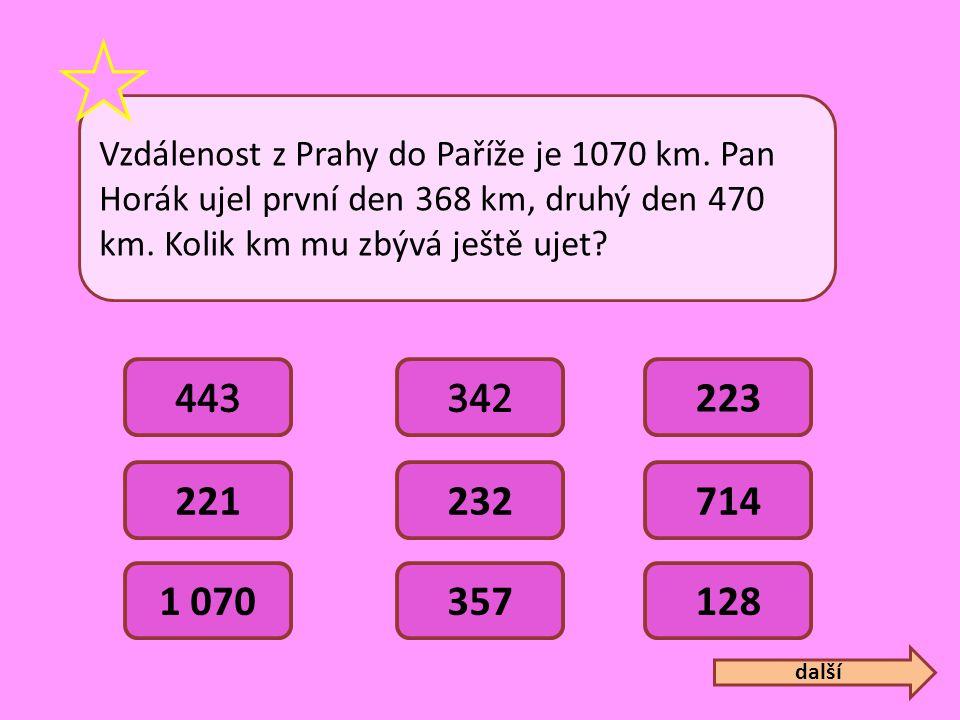 Vzdálenost z Prahy do Paříže je 1070 km