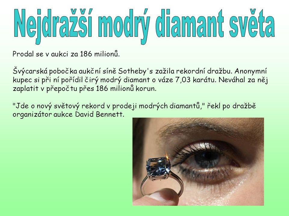 Nejdražší modrý diamant světa