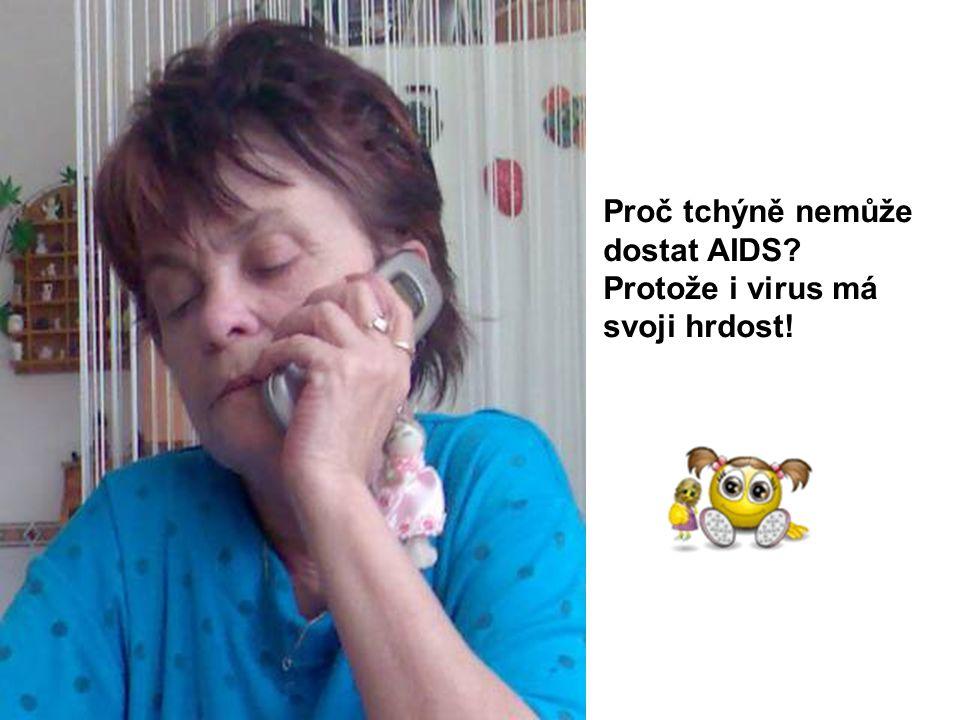 Proč tchýně nemůže dostat AIDS Protože i virus má svoji hrdost!