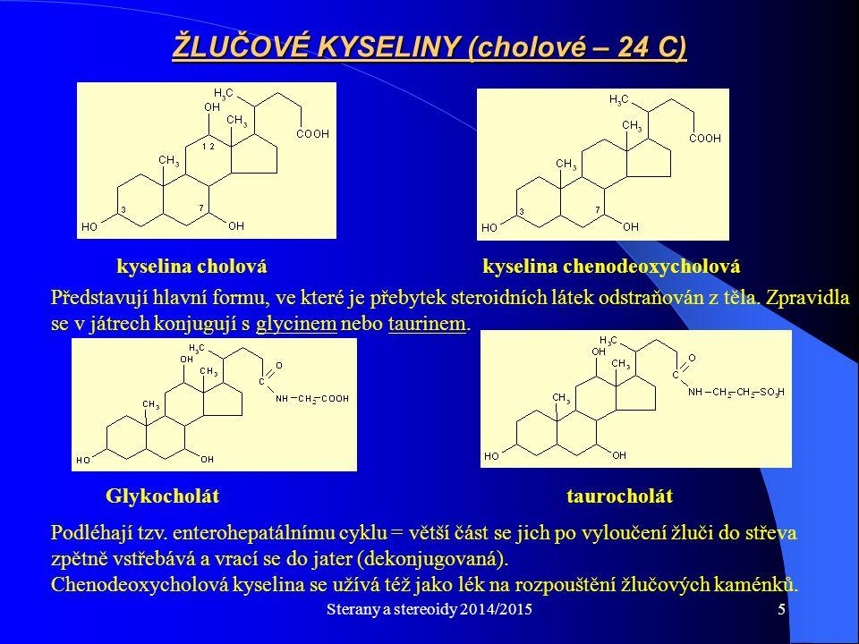 ŽLUČOVÉ KYSELINY (cholové – 24 C)
