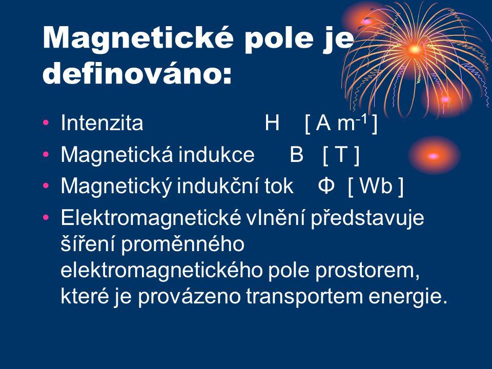 Magnetické pole je definováno: