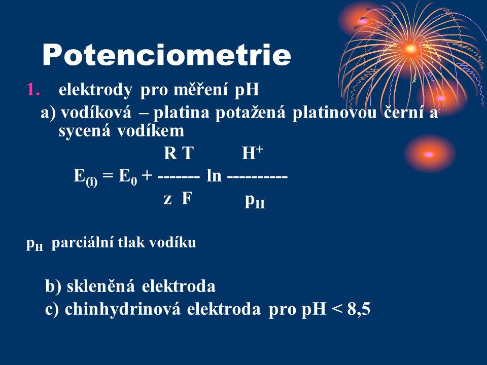 Potenciometrie elektrody pro měření pH