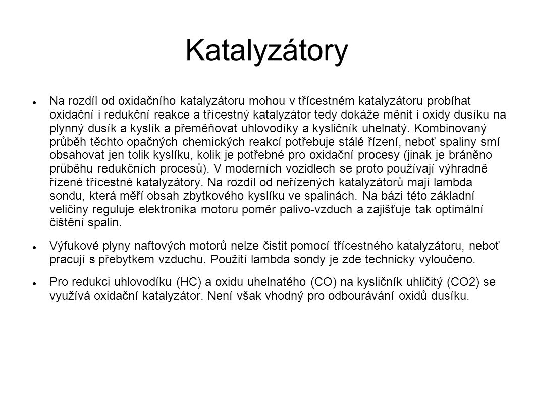 Katalyzátory