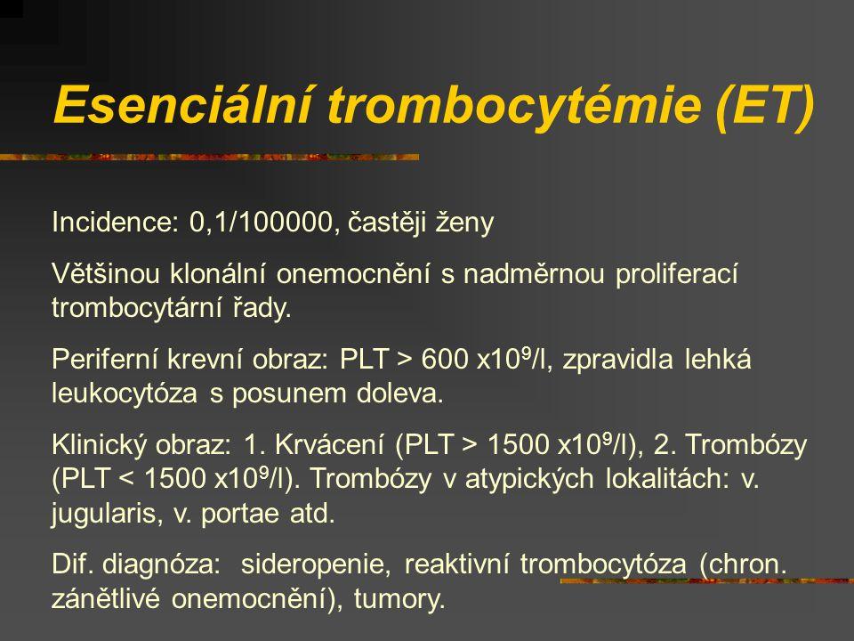 Esenciální trombocytémie (ET)