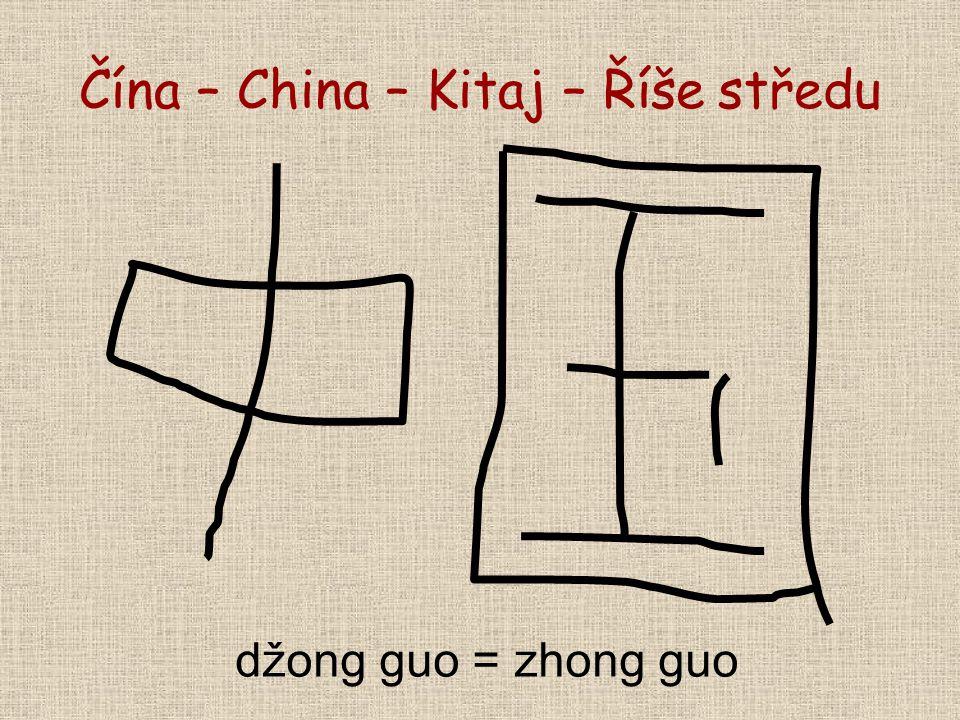 Čína – China – Kitaj – Říše středu