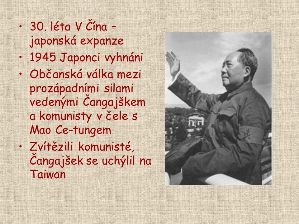 30. léta V Čína – japonská expanze