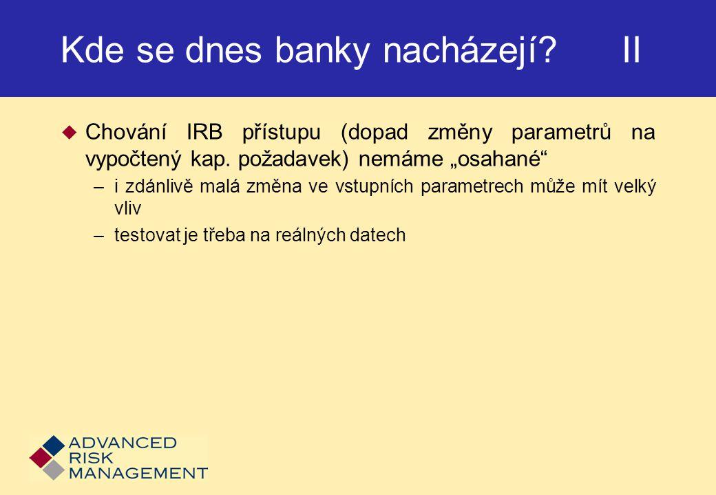 Kde se dnes banky nacházejí II