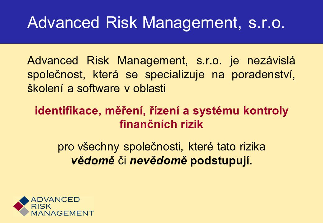 Advanced Risk Management, s.r.o.