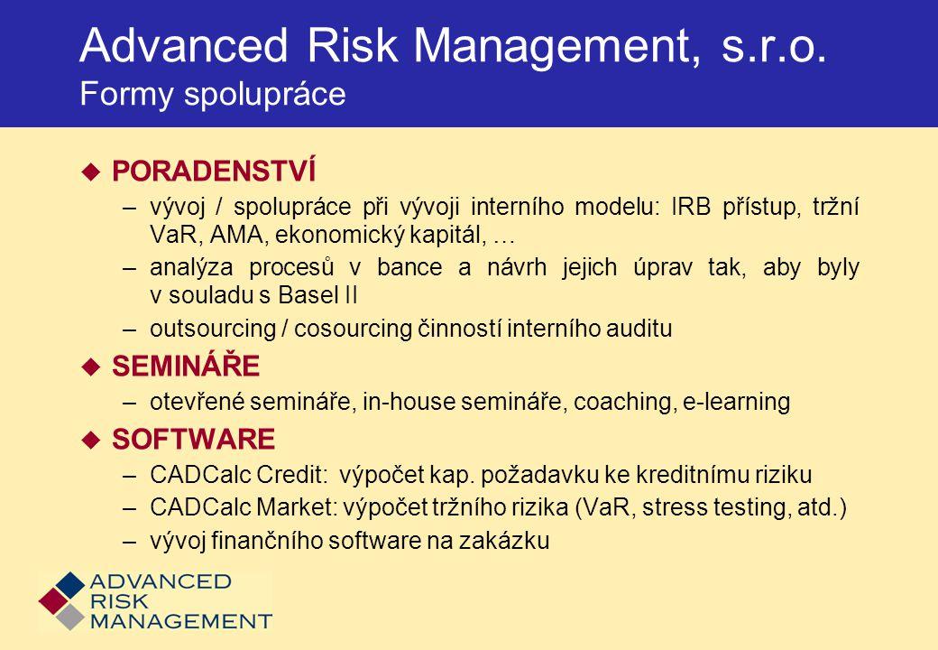 Advanced Risk Management, s.r.o. Formy spolupráce