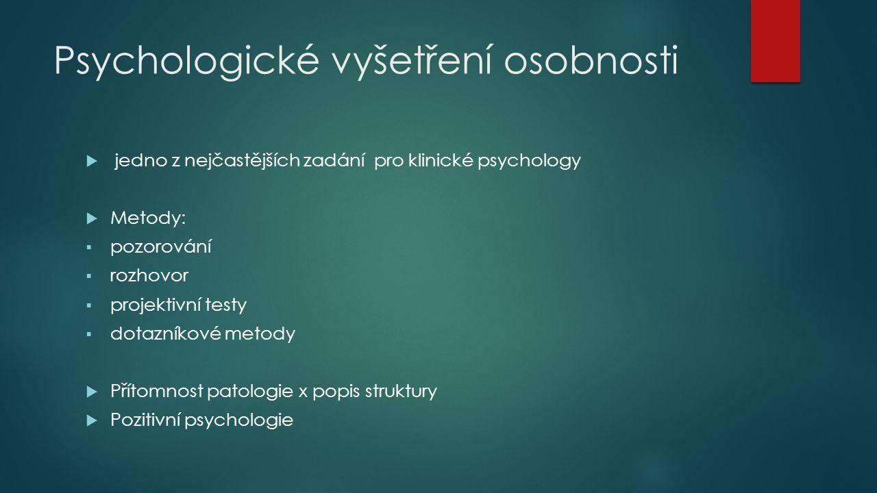 Psychologické vyšetření osobnosti