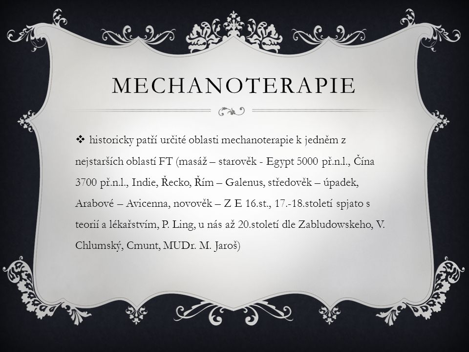 Mechanoterapie