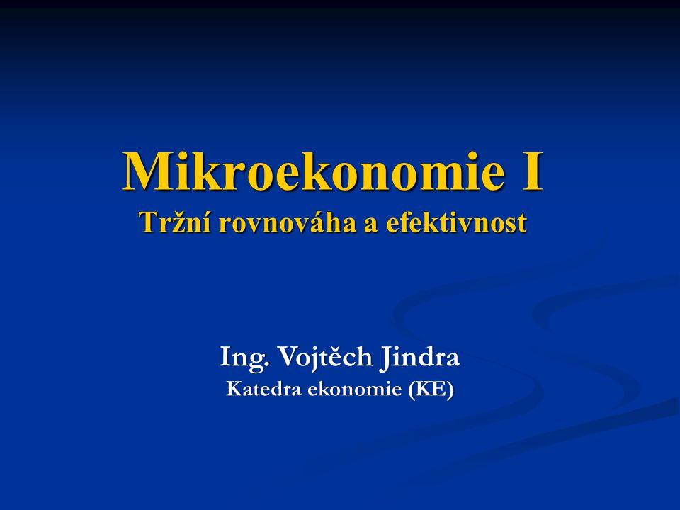Mikroekonomie I Tržní rovnováha a efektivnost