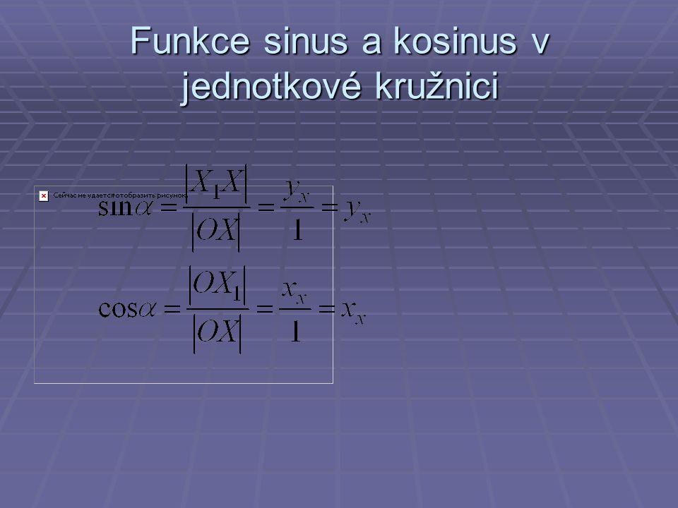 Funkce sinus a kosinus v jednotkové kružnici
