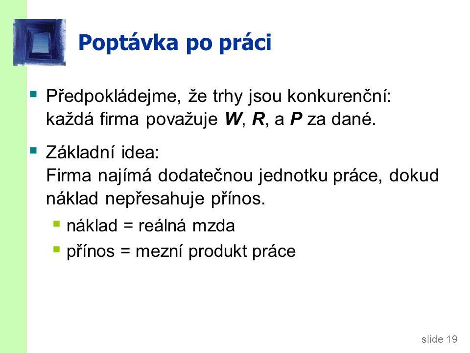 Mezní produkt práce (MPL )