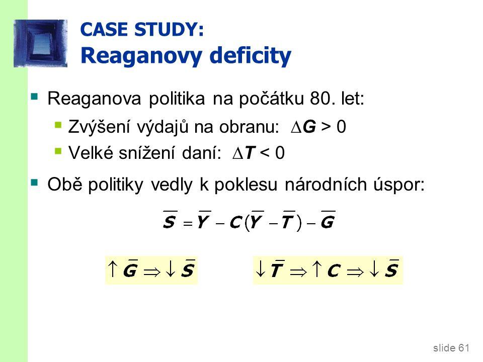 CASE STUDY: Reaganovy deficity