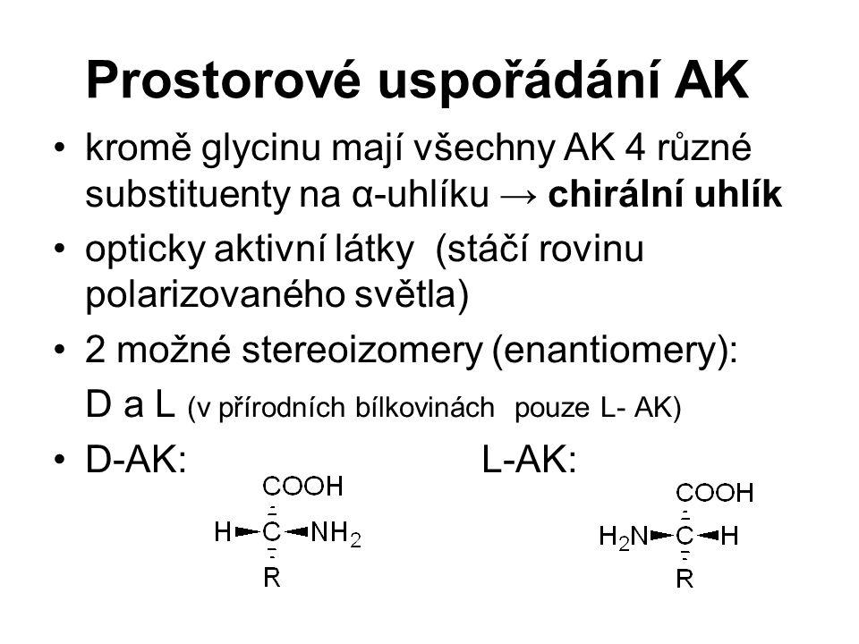 Prostorové uspořádání AK