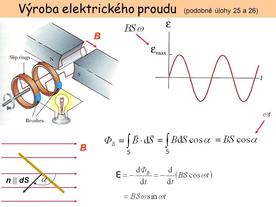 Výroba elektrického proudu (podobně úlohy 25 a 26)