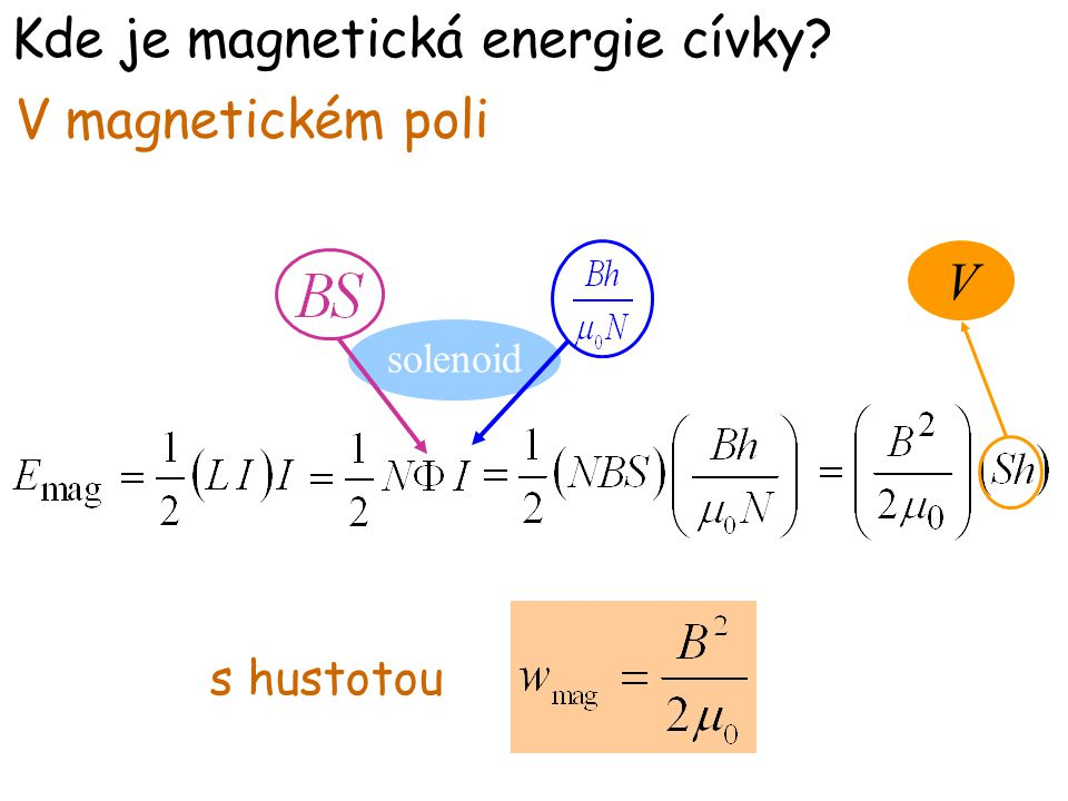 Kde je magnetická energie cívky