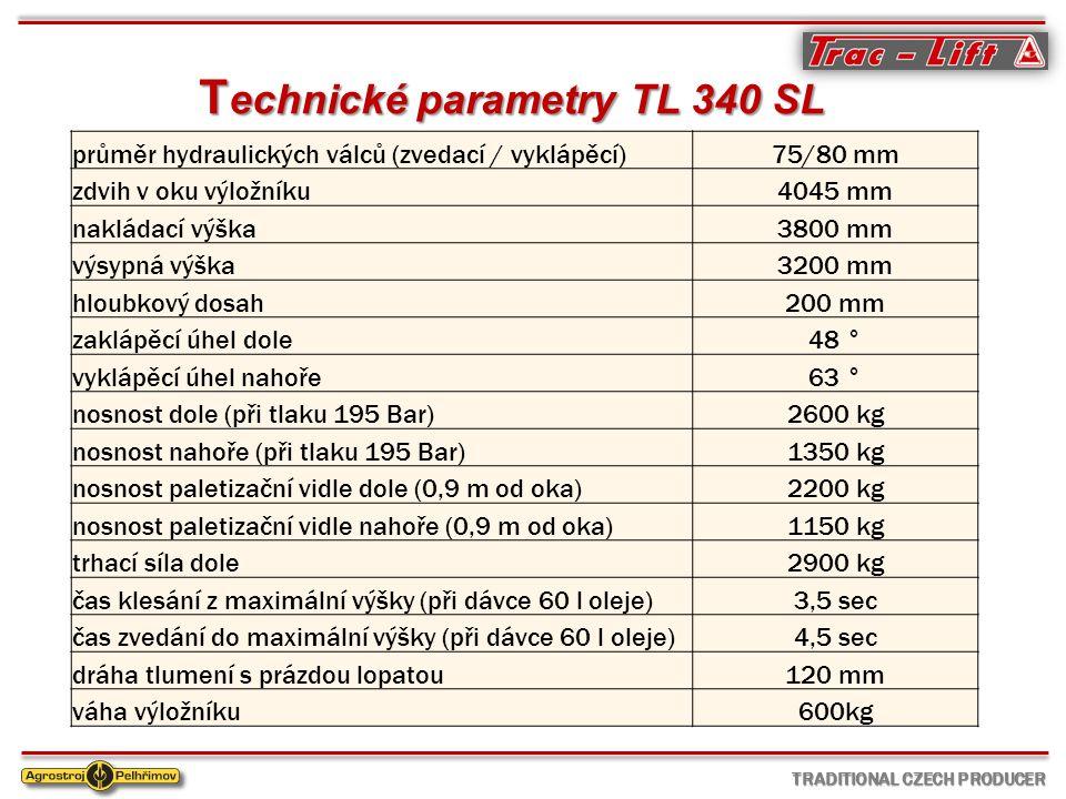 Technické parametry TL 340 SL