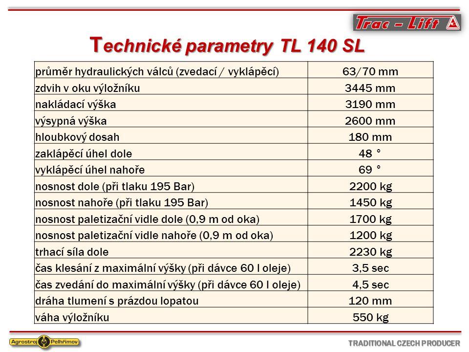Technické parametry TL 140 SL